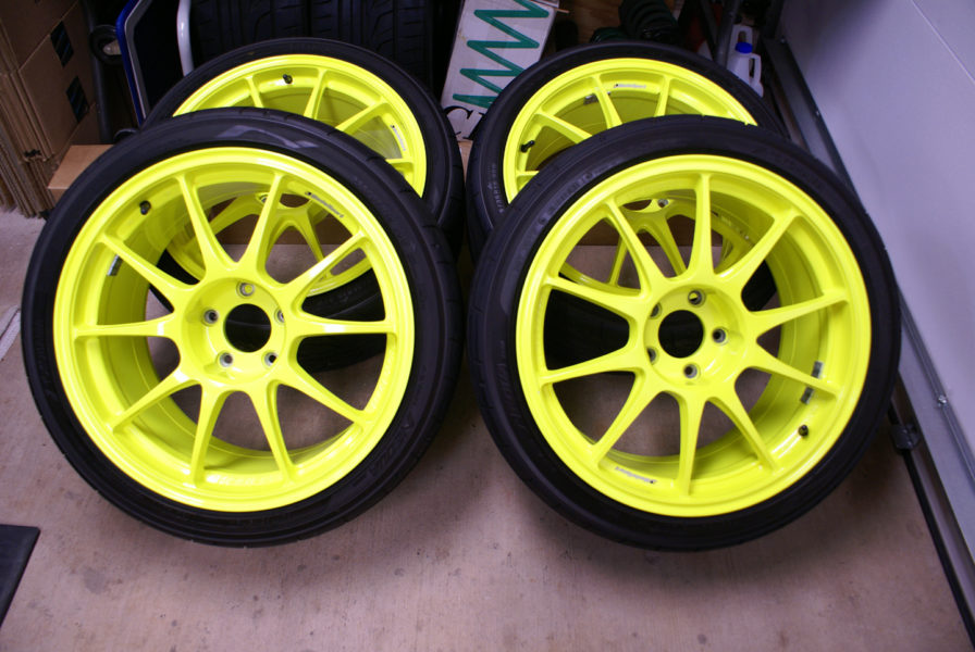 Truck tires must come in neon colors for nighttime visibility