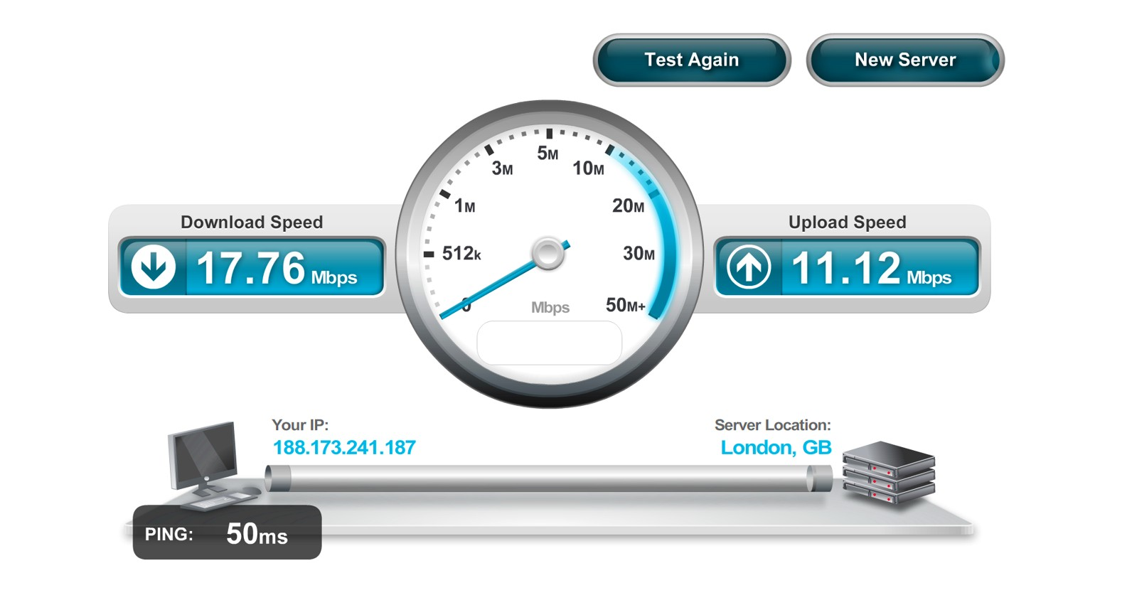 Speed test internet.