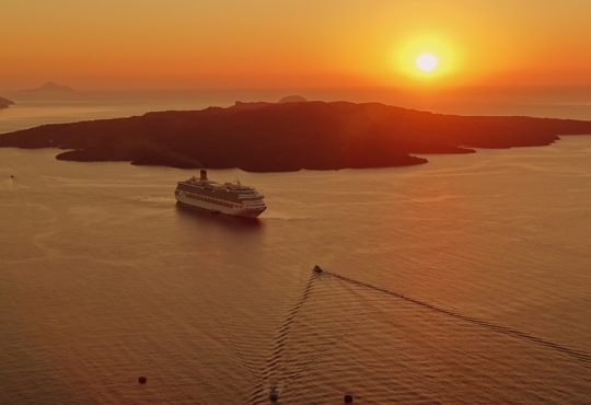 Sunset during cruise