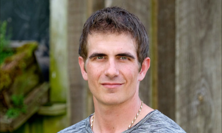 Portrait of stuntman Clay Virtue