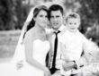 Wedding photo of soccer player Eden Hazard and his wife Natacha Van Honacker
