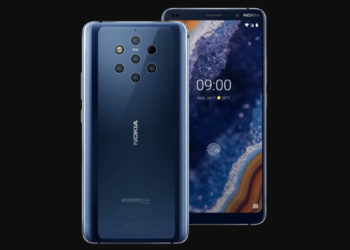 Nokia 9 Pureview Phone view from front and back